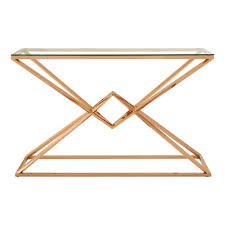 rose gold console table allure rose gold console table 5501399 just interiors
