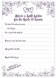 advice for the and groom cards purple wedding advice cards advice well wishes