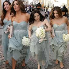 sparkly belts for wedding dresses fashion ruffles tulle grey bridesmaid dress with