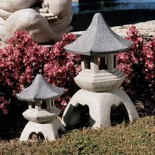 shop design toscano set of 2 asian pagoda architecture garden