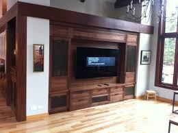 unité de mesure cuisine unité mural pour téléviseur en placage de noyer noir mobilier sur