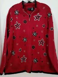 ugly christmas sweater holiday party fun size m medium w shoulder