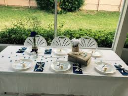 wine bottle plates navy blue graduation table set up wine bottle centerpiece burlap