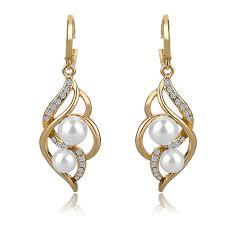 types of earrings for women jewelry charm fashion wedding earrings with pearls drop earring