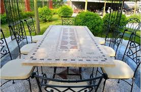 Garden Patio Table Ta 78 94 Mosaic Marble Garden Patio Table Craftsman