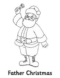 bell and santa coloring page christmas coloring pages of