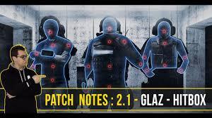 patch notes 2 1 glaz hitbox spawn kill rainbow six siege