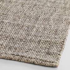 wool rug light gray emilie flatweave sweater wool area rug world market