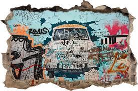 pixxprint trabi graffiti art wall sticker reviews wayfair co uk trabi graffiti art wall sticker