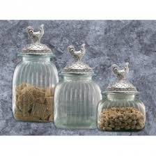 kitchen canister sets australia clear glass kitchen canister set pewter rooster lids by artland