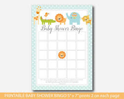 baby shower bingo cards home design