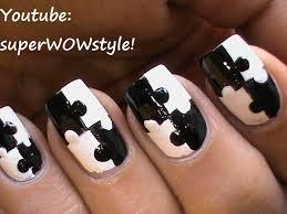 puzzle nails art designs matte nail polish designs black and