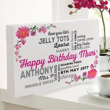 gift for personalized gifts for birthdays typographic prints canvases