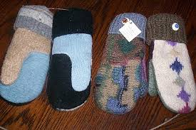 sweater mittens the au gres sheep factory recycled sweater mittens