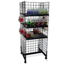 Black Gondola Shelving by Gridwall Gondola Rolling Display Product Display Solutions