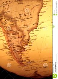 vintage map of south america stock image image 26560289