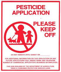 study aids pesticide application posting