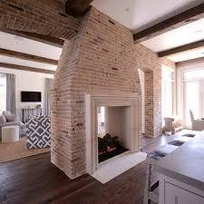 Kitchen Fireplace Design Ideas White Brick Kitchen Fireplace Design Ideas