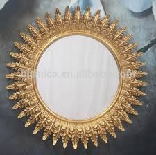 classic design angel wings wall hanging mirror luxury gold