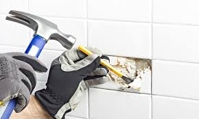 Removing Ceramic Floor Tile Replace A Broken Ceramic Tile