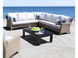 Patio Furniture Sectional Seating - cabana coast riverside 5 piece outdoor sectional hudson u0027s