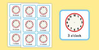 tell the time to the hour and half past the hour page 1
