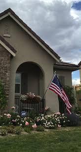 Front Porch Flag Pole Amazon Com No Screws No Tools Powder Coated Steel Flag Pole