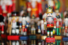 nutcracker king in front of soldiers stock images