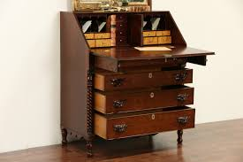 Cherry Secretary Desk by Sold Cherry U0026 Curly Maple New England 1830 Antique Secretary