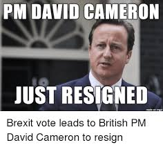 David Cameron Memes - pm david cameron just resigned made on imgur brexit vote leads to