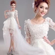 aliexpress com buy ivory color short front long back wedding