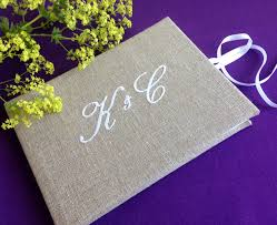 monogrammed guest book personalised monogrammed guest book by bonbon