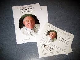 Funeral Booklets William Matthews Funerals Offer Many Services To Assist You
