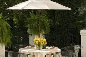 Patio Umbrella Table And Chairs How To Install Caps On Iron Chairs Home Guides Sf Gate