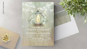 lantern wedding invitations rustic wedding wedding invitations by jinaiji
