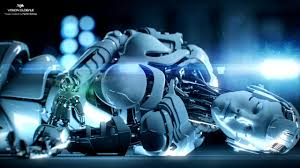 wallpaper hd windows scifi cyborg technics colourful futuristic