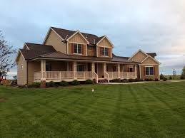 custom farmhouse plans ahp farmhouse custom farmhouse exterior omaha by advanced