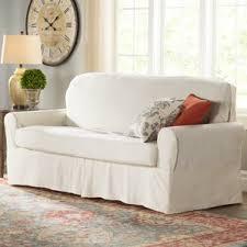 Slipcovers For Three Cushion Sofa 3 Cushion Couch Slip Covers Wayfair