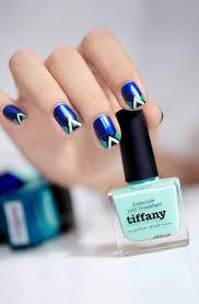 dessin sur ongle en gel idée nail art été u2013couleurs pastel motifs géométriques tribaux