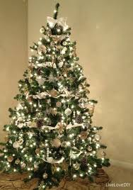 Gold White Christmas Tree Accessories Fair Decorating Ideas Using Green Christmas Trees