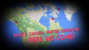Alaska Canada Map by Alaska Canada United Kingdom Here We Come Youtube