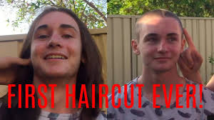 15 year old hair cut 15 year old gets first haircut ever shaved bald youtube