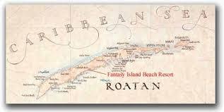 map of roatan honduras roatan island map bay islands department honduras