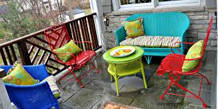 Wrought Iron Patio Furniture Lowes by How To Paint Rusty Metal Patio Furniture Youtube Throughout Spray