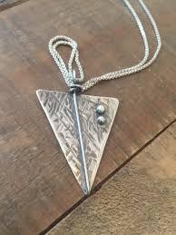handmade silver charm necklace images Sterling silver arrow charm necklace artisan silver jewelry boho jpg