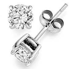 earrings diamond 0 25 ct tw diamond stud earrings 14k white