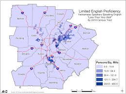 Map Of Atlanta Metro Area Limited English Proficiency Lep Plan Arc