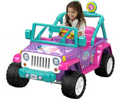 lavender jeep amazon com power wheels nickelodeon shimmer u0026 shine jeep wrangler