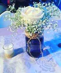 jar center pieces jar centerpieces baby breath in jar baby shower