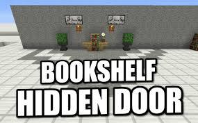 Minecraft Secret Bookshelf Door Minecraft Ps4 Hidden Bookshelf Door Tutorial Ps3 Xbox